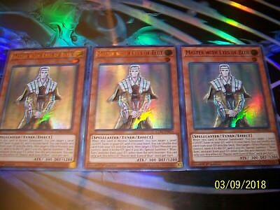 3x Master with Eyes of Blue 1st Edition Ultra Rare LCKC-EN014 Yu-Gi-Oh!