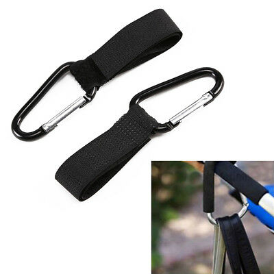 2x Universal Buggy Mummy Clips Pram Pushchair Shopping Bag Hook Carabiner Clip