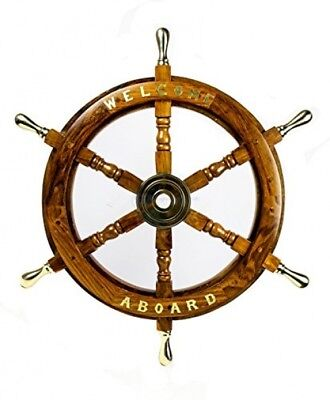 Welcome Aboard Embedded Premium Handcrafted Nautical Pirate's Wall Decor Ship |