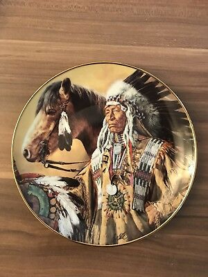 Wandteller, Franklin mint . Limited Edition, top Zustand. Pride of the sioux