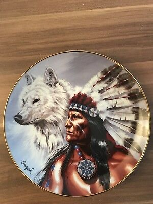 Wandteller Franklin Mint, Limited Edition .Top Zustand. Spirit of the white wolf