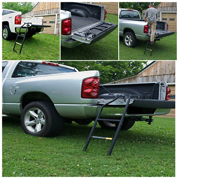 NEW Pickup Tailgate Ladder HEAVY DUTY Truck Bed Step Universal Secure Climb