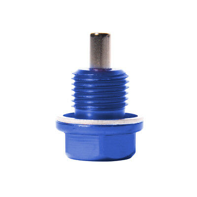 Blue ANODIZED ALUMINUM Magnetic Oil Drain Plug Sump BOLT Washer M14X1.5mm OS1