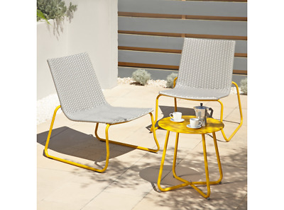 rattan bistro patio set 2 seater garden furniture dining table and