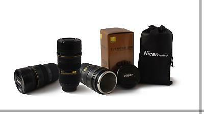 Coffee Cup For Nikon Fans AF-S NICAN 24-70mm Thermos Camera Lens Mug US SELLER