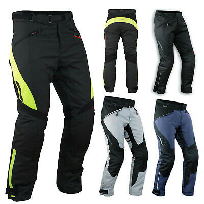 Waterproof Motorcycle Motorbike Textile Thermal Comfort Fit Men Trousers