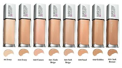 MAYBELLINE Superstay 24H Foundation 30ml Full Coverage, Long Lasting - Shades