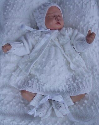 Printed Paper Knitting Pattern To Make Pearl's Flowers 4 Sizes For Baby/ Dolls