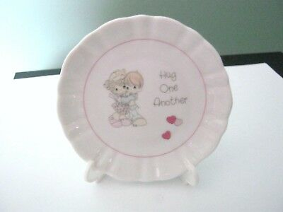 """Precious Moments Mini Plate """"Hug One Another"""""""