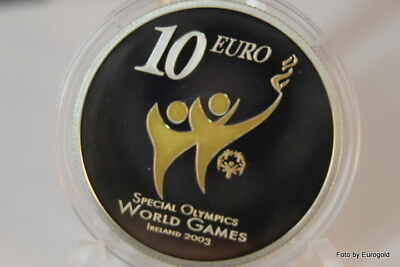 """Irland, 10-Euro 2003 """"Special Olympics"""" Silber PP (proof)"""