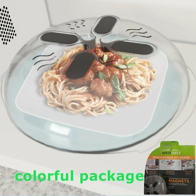 Microwave Hover Cover Protector Food Anti-Sputtering Magnetic Lid Steam fw