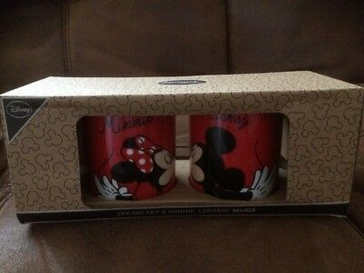 Primark Disney Twin Mug Set - Red Mickey Mouse and Minnie Mouse