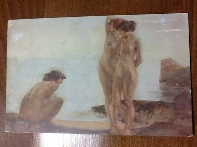 W. Russell Flint, Jeunes Filles Au Bain, Bathing Girls  - Old Postcard