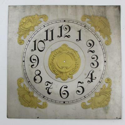OLD BRACKET CLOCK DIAL looks German NO HOLES DRILLED
