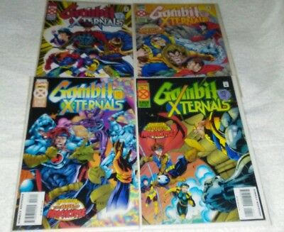 Gambit & The X-Ternals #1-4 Age of Apocalypse (VF/NM 9.0) MARVEL *Free Shipping*