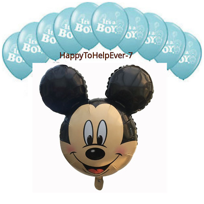 Large Mickey Mouse Foil Balloons Baby Shower Blue Boy Theme Baloon Ballon