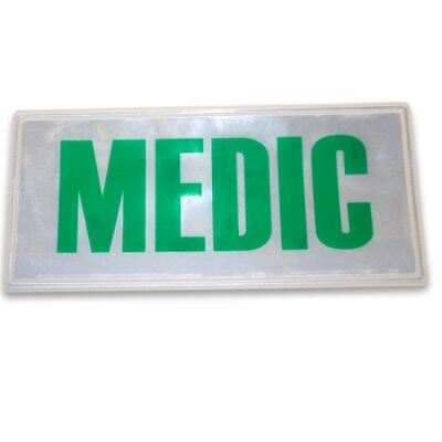 Large Green Reflective Medic Badge