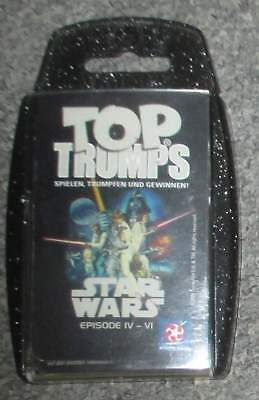 STAR WARS Top Trumps BOX mit 38 Cards deutsch 2004 Card Game Episode IV V VI