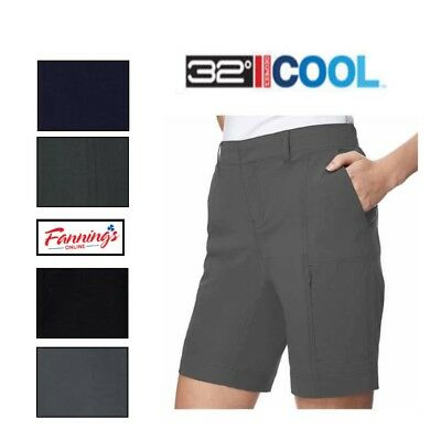 32 Degrees Cool Weatherproof Women's Four-Way Cargo Shorts Variety Sizes / Color