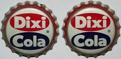 Soda pop bottle caps DIXI COLA Lot of 2 cork lined unused and new old stock