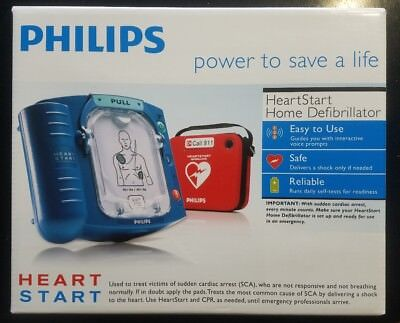 NEW Factory Sealed Philips HeartStart Home AED Defibrillator + Red Case M5068A