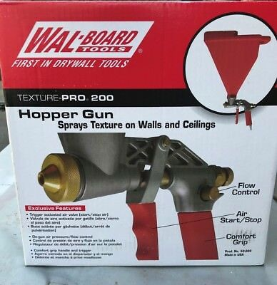 Wal-Board Tools Texture-Pro 200 Hopper Gun with 3 Spray Tips