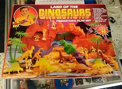 Vintage Toy Street Land of the Dinosaurs Prehistoric Playset COMPLETE W/ BOX EX