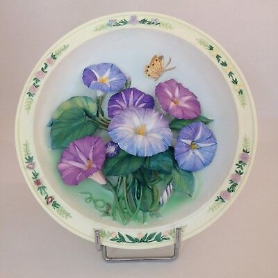 The Morning Glory Garden decorative plate by Lena Liu
