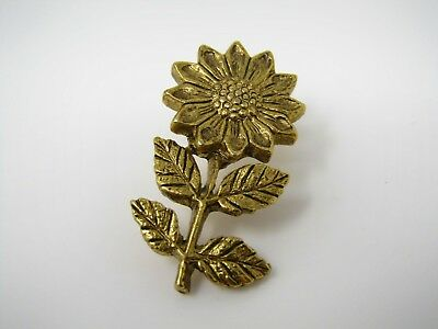 Vintage Collectible Pin: Sunflower Beautiful Design & Quality