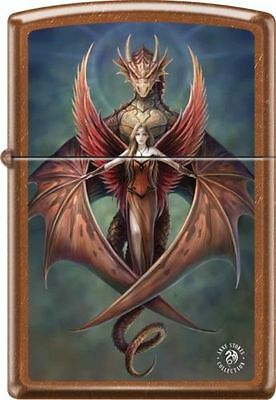 Zippo Anne Stokes Wings Dragon in Rare Toffee Finish.