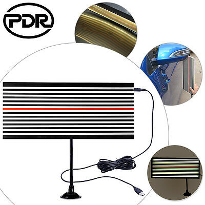 Paintless Dent Repair LED Line Board Scratch Reflector PDR Tool Dent Removal Kit