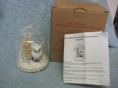 Avon Woodland Owl Light Up Ornament Christmas Tree Ornament - New in Box