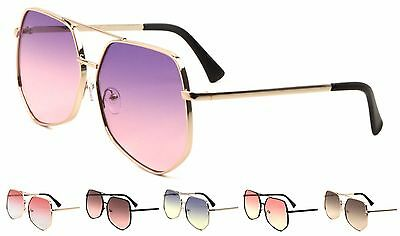 Wholesale 12 Pair Fashion Trendy Aviator Sunglasses with Oceanic Color Lens