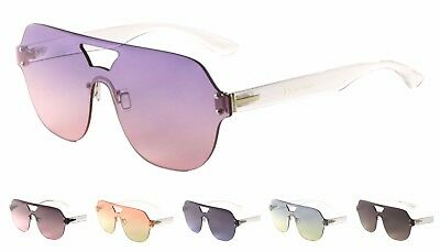 Wholesale 12 Pair Fashion One Piece Sunglasses with Oceanic Color Lens