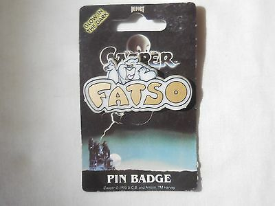 RARE '95 Casper the Friendly Ghost FATSO Pin by Dufort & Sons made in the UK