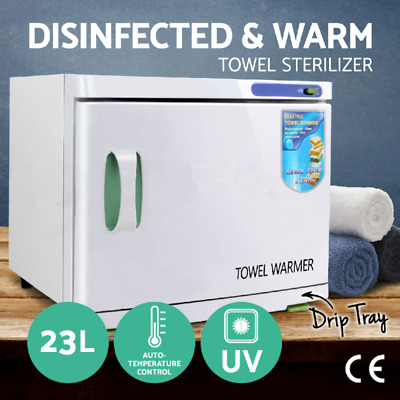 UV Towel Sterilizer Warmer 23L Cabinet Disinfection Heater Hot Hotel Salon Spa
