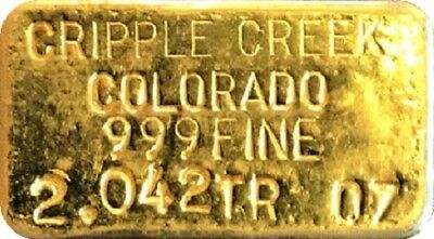 Cripple creek Colorado Ingot
