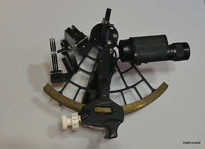 C. Plath Sextant 40521 with 6X30 telescope & Certificate