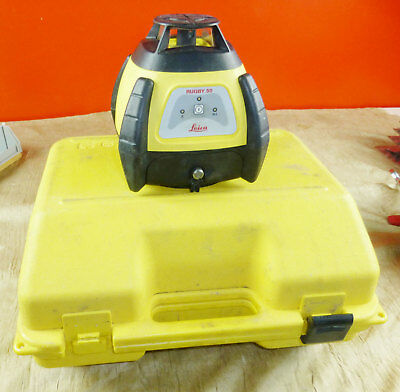 Leica Rugby 50 Rotating Laser Level Working