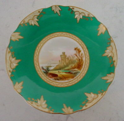 Stunning Old Turquoise Footed Compote Dish