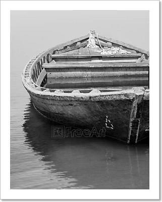 Old Fishing Boat Art Print Home Decor Wall Art Poster - C