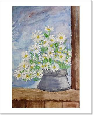C Daisies Floating In Water Art Print Home Decor Wall Art Poster