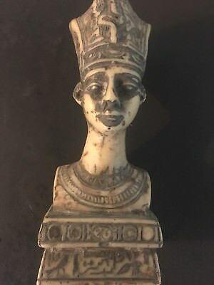 Beautiful Rare Ancient Egyptian Nefertiti Bust 18 DYNASTY 600 BC