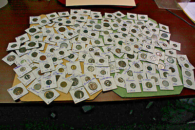 Very Large Lot Of Foreign Coins 1800's and Up Early 1900's Awesome Shape Estate