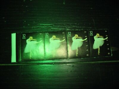 U.S. Postage Stamps Ballet Block of 4 - 32 cent New