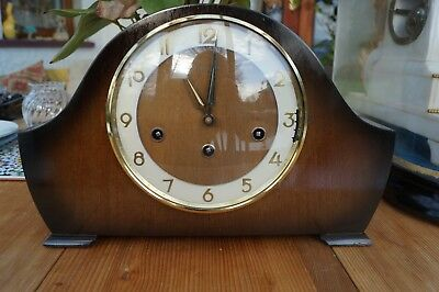 Bentima (Hermle)triple chime mantel clock.West/Whittington/St Michael SEE VIDEO.