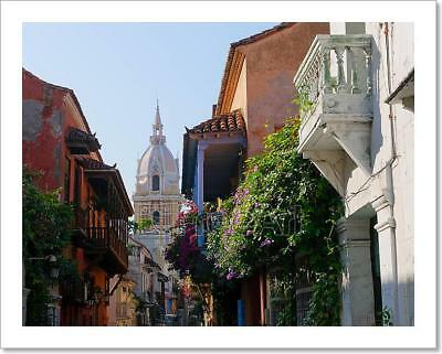 Streets Of Cartagena, Colombia Art Print Home Decor Wall Art Poster - C