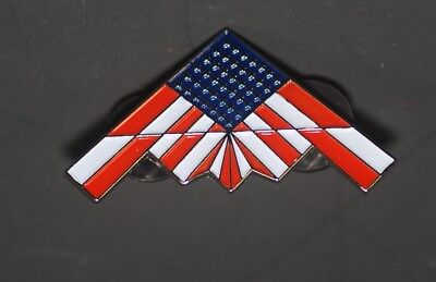 B-2 Spirit Stealth Bomber Flag Pin Us Air Force