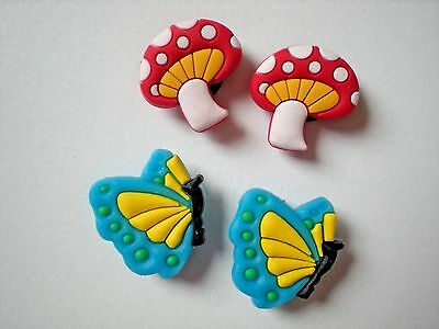Clog Shoe Charm Plug Holey Sandal Jewelry Accessories Sandal Butterfly Mushroom