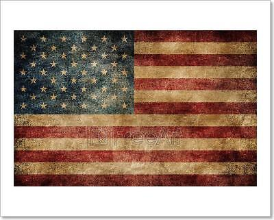 C Kissing The American Flag Art Print Home Decor Wall Art Poster